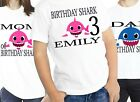 Baby Shark Birthday T-shirt T Shirts Shirt Family Custom Personalized Girl Name