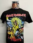 NEW IRON MAIDEN KILLERS CLASSIC FULL COLOR EDDIE BLOODY AX BLACK ROCK T SHIRT image