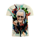 3D Print Head Stan Lee T-Shirt Avengers Superhero Gift Unisex Adult Kids Tee Top