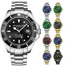Stuhrling 3950 Men's Depthmaster Aquadiver Japanese Quartz 10 ATM Dive Watch