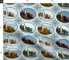 Lighthouse Seasons Nautical Mariner Compas Fabric Printed by Spoonflower BTY