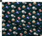 Pool Game Glimmericks Eight Ball Cue Fabric Printed by Spoonflower BTY $18.0 USD on eBay