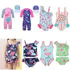 Kids Girls One-piece Swimsuit Swimwear Toddler Floral Beachwear Bathing Suit