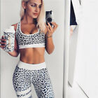 Womens Sports Yoga Gym Running Fitness Leggings Athletic Clothes Bra Pants Sets