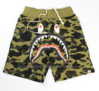 A Bathing Ape Bape Camo Shorts Shark Prints Beach Sports Loose Pants UNISEX