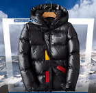 Shiny soft Nylon Men's down Jacket coat hoods warm winter outdoor new size M-3XL
