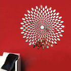 Flower 3d Hexagon Sticker Mirror Acrylic Removable Decal Living Room Wall Decors
