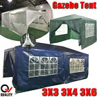 3X3/4/6M PE Garden Gazebo Tent Outdoor Marquee Canopy Awning With Hose Pipe Tool