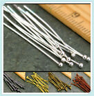 Wholesale 16/20/30/40/50mm Ball Gold Plated Pins Jewelry Finding Head 100pcs