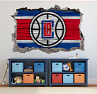 Los Angeles Clippers Wall Art Decal 3D Smashed Basketball NBA Wall Decor WL190 on eBay