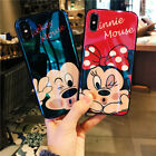 Mickey Minnie Mouse Case For iPhone Xs Max X XR 7 8 Blu Ray Glossy Cartoon Cover