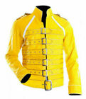 Mens Freddie Mercury Wembley Yellow Knight Concert Jacket