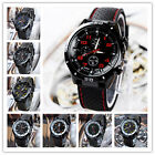 Fashion Men Military Sports Silicone Stainless Steel Quartz Wristwatch Gift US image