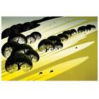"""Eyvind Earle """"Cattle Country"""" Hand-Signed Limited Edition Serigraph; COA"""