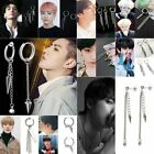 Fashion Stainless Steel Korean Kpop Boys Super Star Ear Stud Earrings Hoop Gift image