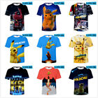 2019 Pokemon Pikachu 3D Print Anime T Shirt Men Women Casual Short Sleeve Tee US