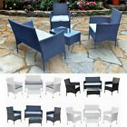 Outdoor Garden Rattan Furniture Table Chairs Sofa Set Patio Conservatory 4 Seats