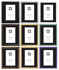 PACK OF 2 Frame Company Picture Photo Frames Fitted With Glass Choice of Colours