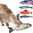 Artificial Fish Plush Cat Mint Catnip Toys Sleeping Pillow Pet Kitty Chew Toy UK
