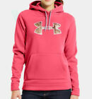 Under Armour Women's ColdGear STORM Tackle Twill Hoodie (Pink) 1220690-856