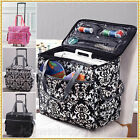 ROLLING SEWING MACHINE TOTE Craft Storage Cart Portable Bag Case ~ 3 CHOICES