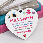 Teacher Gift PERSONALISED Teacher Assistant Nursery Thank You Heart Plaque Gift