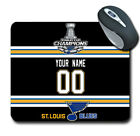 2019 NHL Champions St. Louis blues Personalized Name/Number Mouse Pad 160706 $14.99 USD on eBay