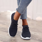 Womens Ladies Breathable Trainers Running Sneakers Lace Up Mesh Sport Gym Shoes