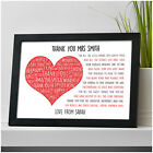 Personalised Teacher Gifts - Teacher TA Nursery Thank You Gifts Leaving Poem