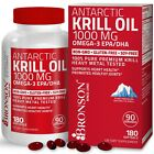 Antarctic Krill Oil 1000mg with Omega-3s EPA  DHA and Astaxanthin