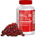 Antarctic Krill Oil 1000mg with Omega-3s EPA, DHA and Astaxanthin $19.99 USD on eBay