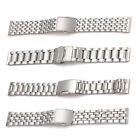 Wrist Watch Band Stainless Steel Strap Bracelet Folding Clasp 18/20/22mm image