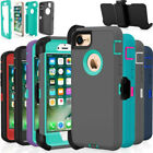 Shockproof Hard Case Cover For Apple iPhone 6 7 8 / Plus Fits Otterbox Belt Clip