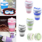 350ML Collapsible Silicone Cup Coffee Mug Reusable Travel Foldable Portable Cup