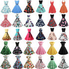 Women 50S 60S ROCKABILLY Style Vintage Swing Pinup Housewife Evening Party Dress
