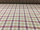 Archer Elderberry Check 100% Wool 140cm wide Curtain/ Upholstery Fabric