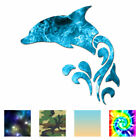 Dolphin Wave Tribal - Vinyl Decal Sticker - Multiple Patterns & Sizes - Ebn218