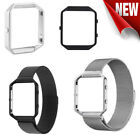 Stainless Steel Metal Strap Watch Band &Frame Wristband For Fitbit Blaze Tracker image