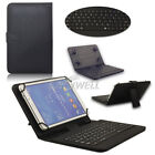 "US! Folio Stand Keyboard Leather Case Cover For 7''/8""/10"" Android Tablet PC"