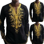 Kyпить Men Women African Dashiki T Shirts Long Sleeve Boho Hippie Kaftan Festive Cloth на еВаy.соm