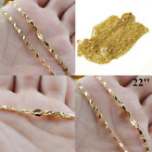 Women Ladies Fashion Hollow Carved 18k Gold-plated Filled Chain Necklace Jewelry