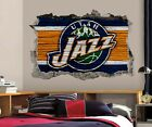 Utah Jazz Wall Art Decal 3D Smashed Basketball NBA Wall Decor WL207 on eBay