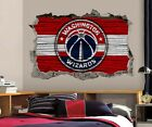 Washington Wizards Wall Art Decal 3D Smashed Basketball NBA Wall Decor WL208 on eBay