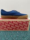 Vans Unisex Adult Authentic Skateboarding Shoes Dress Blue / Light Gum Men's NEW