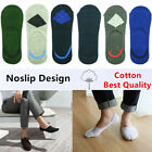 GK Mens Invisible Nonslip Loafer No Show Low Cut Solid Argyle Cotton Boat Socks