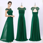 UK Womens Bridesmaid Dresses Wedding Ball Long Prom Formal Evening Party Gown <br/> ❤ Size 8-26 ❤ High Quality❤ Gown 09993❤ Lace Neck❤