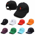 Polo Fine Embroidery Pony Baseball Leather Strap Back Adjustable Golf Hats Cap