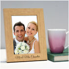 Personalised Mr and Mrs Wedding Anniversary Wooden Photo Frame Gifts for Couples