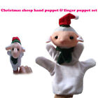 2PCS Baby Kids Christmas Toy Finger Puppet Soft Plush Doll Hand Cartoon Animal