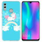 Cute Pastel Unicorn Phone Case For Huawei Honor 8 9 10 Lite V20 20i 10i Y6 Y7 Y9